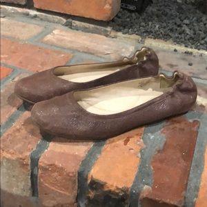 L.L. Bean brown leather ballet flats size 9 1/2